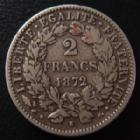 Photo numismatique  Monnaies Monnaies Françaises Troisième République 2 Francs 2 Francs 1872 K Bordeaux, G.530a TB/TB+