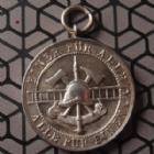 Photo numismatique  Monnaies Allemagne après 1871 Allemagne, Deutschland, Lichtenau Medaille Allemande, Deutsch orden LICHTENAU, médaille en argent avec bélière, pour 20 ans de service, sapeurs pompier, 3 mm, SUPERBE