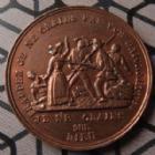Photo numismatique  Monnaies Médailles Deuxième République Médaille en cuivre 2ème République, médaille en cuivre de 27,5 mm, Hommage de la garde mobile aux communauté religieuse 1848, TTB à SUPERBE