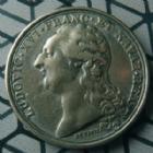 Photo numismatique  Monnaies Médailles Louis XVI Médaille en métal de cloche argenté LOUIS XVI, médaille en métal de cloche argenté, Académie Royale de peinture et de sculpture, DUVIVIER fin 1791, 33 mm, TTB