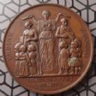 Photo numismatique  Monnaies Médailles Enseignement Primaire Médaille en cuivre Enseignement Primaire, médaille en cuivre 51,5 mm attribuée à Mme MOUAUD SŒUR GABRIELLE Instirutrice primaire a Vouziers (Ardennes 1853-1854) TTB SUP