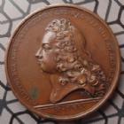 Photo numismatique  Monnaies Médailles Louis XIV et Philippe Duc d'Anjou Médaille en bronze, Louis XIV LOUIS XIV et PHILIPPE Duc d'Orléans Roi d'Espagne, médaille en bronze de 40,5 mm, avènement de Duc au trône d'Esapgne 1700, TTB+