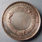 Photo numismatique  Monnaies Médailles Concours agricole Médaille en cuivre argenté NAPOLEON III, médaille en cuivre argenté de 41,5 mm, concours cantonal agricole, A.Bescher, A.Borrel, SUPERBE