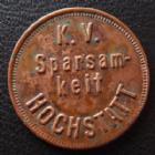 Photo numismatique  Monnaies Monnaies/medailles d'Alsace Hochstatt Jeton pour du pain Hochstatt, jeton de 22,3 mm, K.V Spasam-keit Hochstatt, TTB+ R!