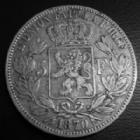 Photo numismatique  Monnaies Monnaies étrangères Belgique, Belgie, Belgien 5 Francs Belgique, Belgien, Leopold II, 5 francs 1870, TB à TTB