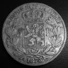 Photo numismatique  Monnaies Monnaies étrangères Belgique, Belgie, Belgien 5 Francs Belgique, Belgien, Leopold II, 5 francs 1873 TB+