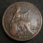 Photo numismatique  Monnaies Monnaies étrangères Grande Bretagne, Great Britain, Angleterre 1 Farthing Grande Bretagne, Great Britain, Georg IV, farthing 1822, KM.677 TTB