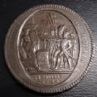 Photo numismatique  Monnaies Monnaies de la Révolution Monneron 5 Sols au serment Monneron, 5 sols au serment 1792, 27,94 grms, coups sur tranche, TTB/TB