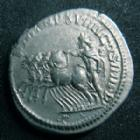 Photo numismatique  Monnaies Empire Romain CARACALLA Denier, denar, denario, denarius CARACALLA, denier Rome en 216, sa tête à droite, quadrige conduit par le Soleil, 3,13 grms, RIC.282 F TTB+
