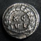 Photo numismatique  Monnaies Empire Romain MAXIMIEN HERCULE, MAXIMIANUS, MAXIMIAN, MAXIMIANO, HERCULUS Argenteus, argentei MAXIMIEN Hercule, MAXIMIANUS Herculius, Argenteus Carthage en 300, sa tête laurée à droite, XC VI dans une couronne, 3,00 g, 17 mm, RIC.15b TB à TTB R