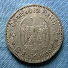 Photo numismatique  Monnaies Monnaies étrangères Allemagne 3ème reich 2 mark, Zwei mark Allemagne 3ème Reich, 2 mark 1934 G, KM.81 TB+