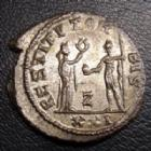 Photo numismatique  Monnaies Empire Romain PROBUS, PROBIO Antoninien, antoninianus, antoniniane PROBUS, antoninien Antioche en 276-282, RESTITUT ORBIS XXI/Z, 3,70 grms, 20,5 mm, RIC.925Z SUPERBE+
