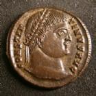 Photo numismatique  Monnaies Empire Romain CONSTANTIN I, CONSTANTINUS I, CONSTANTINO Follis, folles,  CONSTANTIN Ier, CONSTANTINUS I, follis Cysique ( Kyzicus ) en 324-325,  PROVIDENTIAE AUGG SMKA, 3,27 grms, 19-20 mm, RIC.24A SUPERBE+