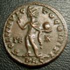 Photo numismatique  Monnaies Empire Romain CONSTANTIN I, CONSTANTINUS I, CONSTANTINO Follis, folles,  CONSTANTIN I, CONSTANTINUS I, follis Lyon en 315-316, Soli Invicto Comiti, beau drapé !, 19,5 mm, 3,24 grms, RIC.32 SUPERBE+