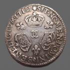 Photo numismatique  Monnaies Monnaies Royales Louis XIV 1/10 ème d'Ecu aux trois couronnes LOUIS XIV, 1/10e d'Ecu aux 3 couronnes 1712 x Besançon, 2,95 grs, L4L.307 légèrement voilée à 11h sinon TTB Très rare!!