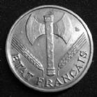 Photo numismatique  Monnaies Monnaies Françaises Etat Français 50 Centimes 50 centimes Bazor 1943 B , aluminium, Etat Français, G.425 SUPERBE