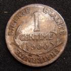 Photo numismatique  Monnaies Monnaies Françaises Troisième République 1 centime Dupuis 1 centime Daniel Dupuis 1900, G.90 TTB Rare!
