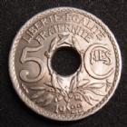 Photo numismatique  Monnaies Monnaies Françaises Troisième République 5 centimes Lindauer 5 centimes Lindauer 1922 Poissy, G.170 SUPERBE à FDC