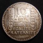 Photo numismatique  Monnaies Monnaies Françaises Troisième République 10 francs Turin 10 Francs Turin 1937, G.801 TTB+ Rare!