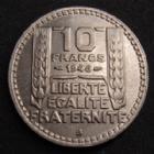 Photo numismatique  Monnaies Monnaies Françaises Gouvernement Provisoire 10 Francs Turin Rameaux longs 10 Francs Turin 1946 B rameaux longs, G.810 presque SUPERBE
