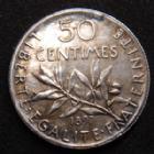 Photo numismatique  Monnaies Monnaies Françaises Troisième République 50 Centimes 50 Centimes Semeuse de Roty 1897, G.420 TTB+ Rare!