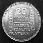 Photo numismatique  Monnaies Monnaies Françaises Troisième République 20 Francs Turin 20 Francs Turin 1933 rameaux courts, G.852 SUPERBE+