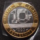 Photo numismatique  Monnaies Monnaies Françaises Cinquième république 10 Francs Genie 10 Francs Génie de la Bastille 1993 BU frappe médaille, 3095 exemplaires !, G.827 BU Rare!