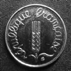 Photo numismatique  Monnaies Monnaies Françaises Cinquième république 1 centimes épi 1 Centime Epi 1991 frappe médaille, G.91 BU Rare!