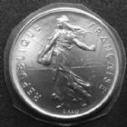 Photo numismatique  Monnaies Monnaies Françaises Cinquième république 50 Francs 5 Francs semeuse de Roty 1985, G.771 FDC