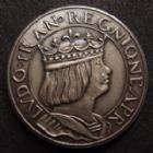 Photo numismatique  Monnaies Monnaies Françaises Troisième République Essai de métal, argent Essai de métal et de module non daté, type de Louis XII (vers 1880 ?), poinçon corne argent, VG.3962 Quasi FDC