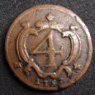 Photo numismatique  Monnaies Monnaies étrangères Italie, italia, Naples, Napoli 4 cavalli Italie, Italia, Naples, Napoli, Carlo di Barbone, 4 cavalli 1757, 2,08 grms, GIG.63 TTB Rare!