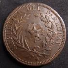 Photo numismatique  Monnaies Monnaies étrangères Paraguay 4 Centesimos Paraguay, 4 centesimos 1870, 19,88 grms, KM.4.1 TTB°