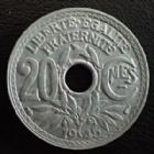 Photo numismatique  Monnaies Monnaies Françaises Gouvernement Provisoire 20 centimes zinc 20 Centimes zinc 1945, G.324 SUPERBE+