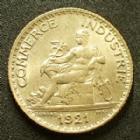 Photo numismatique  Monnaies Monnaies Françaises Troisième République 1 Franc 1 Franc chambre de commerce, Domard, Bon pour 1 franc 1921, G.468 SUPERBE