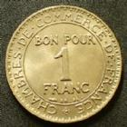 Photo numismatique  Monnaies Monnaies Françaises Troisième République Bon pour 1 franc 1 Franc chambre de commerce, bon pour 1 franc 1921, G.468 SUPERBE à FDC