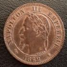 Photo numismatique  Monnaies Monnaies Françaises Second Empire 2 Centimes NAPOLEON III, 2  centimes 1862 BB Strasbourg, G.103 SUPERBE