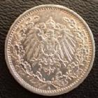 Photo numismatique  Monnaies Allemagne après 1871 Allemagne, Deutschland, Empire, Kaisereich 1/2 Mark 1/2 Mark 1915 A, J.16 SUPERBE