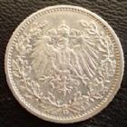 Photo numismatique  Monnaies Allemagne après 1871 Allemagne, Deutschland, Empire, Kaisereich 1/2 Mark 1/2 Mark 1911 G, J.16 TTB+
