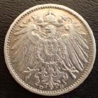 Photo numismatique  Monnaies Allemagne après 1871 Allemagne, Deutschland, Empire, Kaisereich 1 Mark 1 Mark 1904 D, J.17 Bon TTB