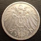 Photo numismatique  Monnaies Allemagne après 1871 Allemagne, Deutschland, Empire, Kaisereich 1 Mark 1 Mark 1907 F, J.17 TTB+
