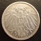 Photo numismatique  Monnaies Allemagne après 1871 Allemagne, Deutschland, Empire, Kaisereich 1 Mark 1 Mark 1896 A, J.17 Presque TTB