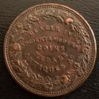 Photo numismatique  Monnaies Monnaies étrangères Grande Bretagne, Great Britain, Angleterre Token, Penny, coin dealers Grande Bretagne, Great Britain, penny token, coin dealers William Till, London 1834, ancient&modern coin, Traces de monture au revers, TTB