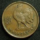Photo numismatique  Monnaies Anciennes colonies Françaises Madagascar 50 centimes Madagascar MADAGASCAR, 50 centimes 1943, LEC.93 TTB à SUPERBE