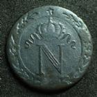 Photo numismatique  Monnaies Monnaies Françaises 1er Empire 10 Centimes NAPOLEON Ier, 10 centimes 1809 M Toulouse, G.190 TB+