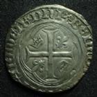 Photo numismatique  Monnaies Monnaies Royales Charles VII Blanc à la couronne CHARLES VII, blanc à la couronne, 1e émission du 28 Janvier 1436, paris point 18e, 2,40 grms, DY.519 B TB à TTB