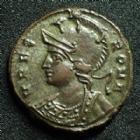 Photo numismatique  Monnaies Empire Romain CONSTANTIN I, CONSTANTINUS I, CONSTANTINO Follis, folles,  URBS ROMA, CONSTANTIN I, CONSTANTINUS I, follis Alexandrie en 333-335, 17 mm, 2,70 grms, RIC 63 SUPERBE+