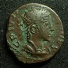 Photo numismatique  Monnaies Peuples Barbares Imitation du 3ème siècle Antoninien Barbares, Barbaric, Barbarische, imitation d'un antoninien de Tétricus II, 3e siècle après JC, 2,78 grms, TTB