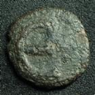 Photo numismatique  Monnaies Monnaies Byzantines Justin II, Justinus II Pentnummium, Pentanummi JUSTIN II, JUSTINUS II, Ae pentanummium, monogramme, grand E, 13 mm, poids léger de 1,99 grms (1/2 pentanummi ??) Sear 386 v. B/TB+ Rare !