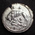 Photo numismatique  Monnaies Empire Romain CONSTANTIN I, CONSTANTINUS I, CONSTANTINO Follis, folles,  URBS ROMA, CONSTANTIN I, Follis Trêves en 333-335, Argenture moderne ! 19 mm, SUPERBE+