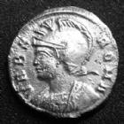 Photo numismatique  Monnaies Empire Romain CONSTANTIN I, CONSTANTINUS I, CONSTANTINO Follis, folles,  URBS ROMA, CONSTANTIN I, Follis Trêves en 333-335, Argenture moderne ! TTB à SUPERBE